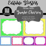 Blank Poster Templates (11x8.5) Essentials: Jumbo Chevron