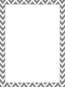 Blank Page with Chevron Border