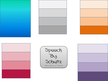 Blank Paint Chips Clip Art- For Synonyms and Colorful Language