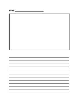 Blank Paragraph Writing Paper