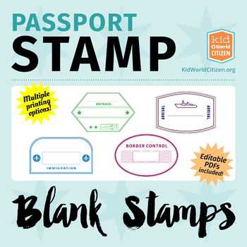 graphic relating to Printable Passport Stamps for Kids known as Blank Pport Stamps, Poster Clip Artwork for More than the Planet Gadget