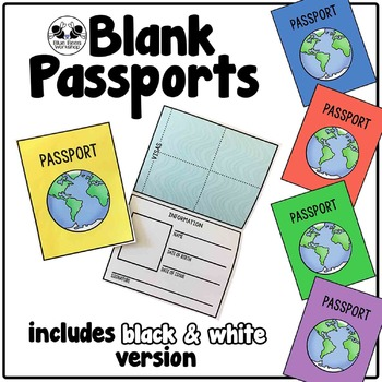 Blank passport template by blue bees workshop teachers for Printable passport template for kids