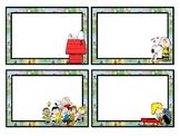 Blank Peanuts Themed Classroom Labels