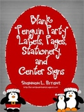 Blank Penguin Labels, Pages, Stationery, and Center Signs