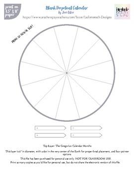 Blank Perpetual Calendar By Luftmensch Designs
