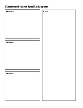 Blank Planning Forms