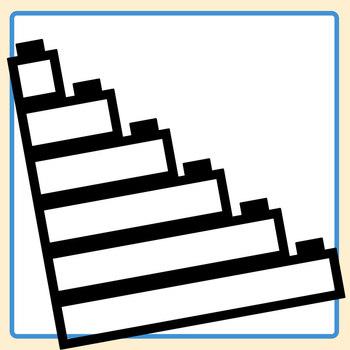 Blank Plastic Bricks (Like Lego) Black and White Graphic Organizer Templates