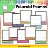 Blank Polaroid Films Heart Backgrounds