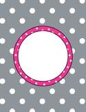 Blank Polka Dot Binder Cover