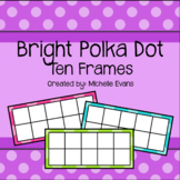 Bright Polka Dot Ten Frame Cards (Blank)