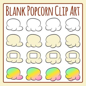 Blank Popcorn for Popcorn Words Clip Art Set for Commercial Use