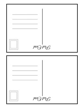 Blank postcard template by mainly middle school 6 8 tpt blank postcard template maxwellsz