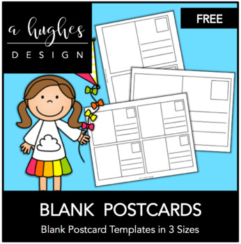 It is an image of Printable Postcards Template with regard to full page postcard