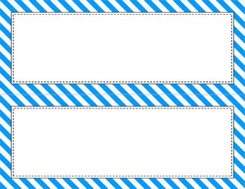 Blank Poster Templates (11x4.25) Essentials & White: Diagonal Stripes