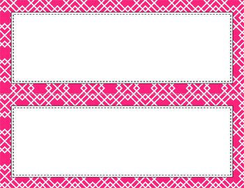 Blank Poster Templates - 11x4.25 Basics: Geometric & White