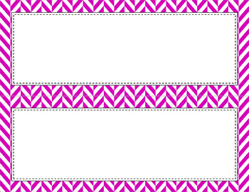 Blank Poster Templates - 11x4.25 Basics: Herringbone & White