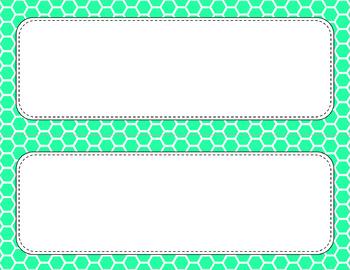 Blank Poster Templates - 11x4.25 Basics: Honeycomb & White