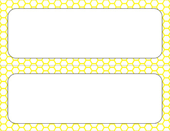 Blank Poster Templates - 11x4.25 Basics: Honeycomb & White (Inverted)