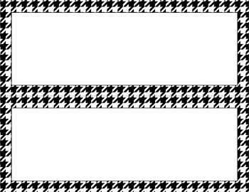 Blank Poster Templates - 11x4.25 Basics: Houndstooth & White