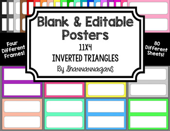 Blank Poster Templates - 11x4.25 Basics: Inverted Triangles