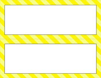 Blank Poster Templates - 11x4.25 Basics: Jumbo Diagonal Stripes