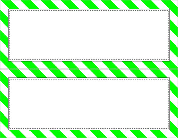 Blank Poster Templates - 11x4.25 Basics: Jumbo Diagonal Stripes & White