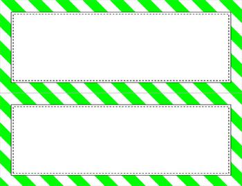 Blank Poster Templates (11x4.25) Essentials & White: Jumbo Diagonal Stripes