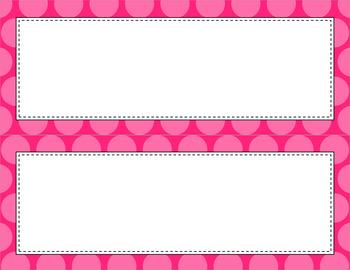 Blank Poster Templates - 11x4.25 Basics: Jumbo Polka Dots (Inverted)