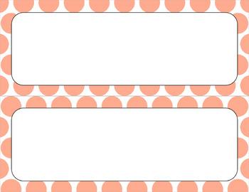Blank Poster Templates (11x4.25) Essentials & White: Jumbo Polka Dots