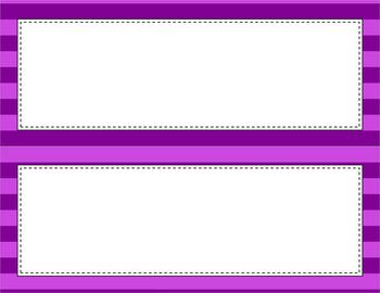 Blank Poster Templates - 11x4.25 Basics: Jumbo Stripes
