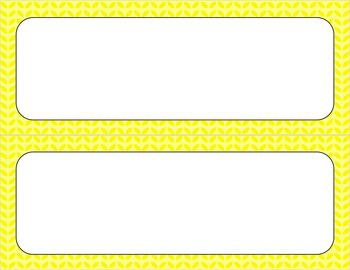Blank Poster Templates - 11x4.25 Basics: Leaves
