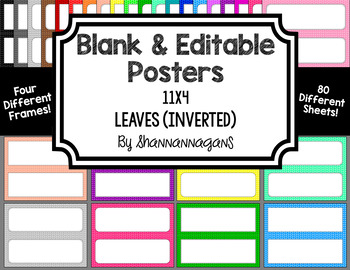 Blank Poster Templates - 11x4.25 Basics: Leaves (Inverted)