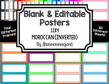 Blank Poster Templates - 11x4.25 Basics: Moroccan (Inverted)