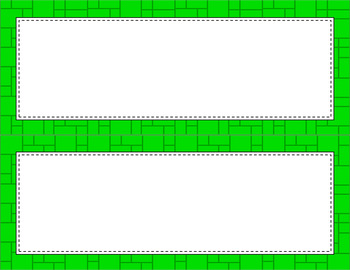 Blank Poster Templates - 11x4.25 Basics: Mosaic (Inverted)