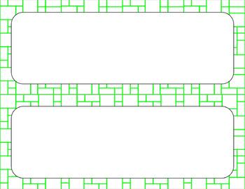 Blank Poster Templates - 11x4.25 Basics: Mosaic & White (Inverted)