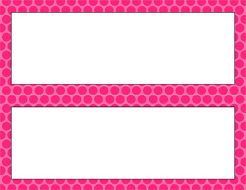 Blank Poster Templates - 11x4.25 Basics: Polka Dots
