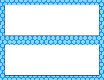 Blank Poster Templates - 11x4.25 Basics: Polka Dots (Inverted)