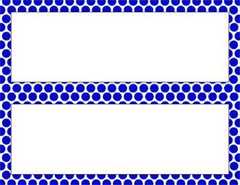 Blank Poster Templates - 11x4.25 Basics: Polka Dots & White