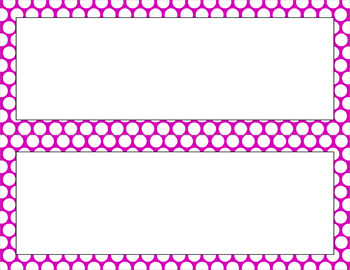 Blank Poster Templates - 11x4.25 Basics: Polka Dots & White (Inverted)
