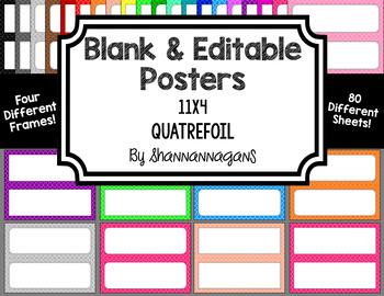 Blank Poster Templates - 11x4.25 Basics: Quatrefoil