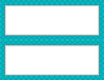 Blank Poster Templates - 11x4.25 Basics: Quatrefoil (Inverted)