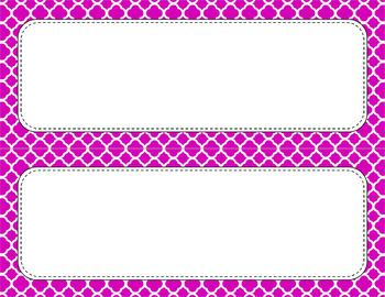 Blank Poster Templates - 11x4.25 Basics: Quatrefoil & White