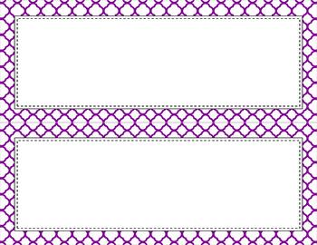 Blank Poster Templates (11x4.25) Essentials & White: Quatrefoil (Inverted)