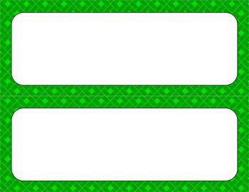 Blank Poster Templates - 11x4.25 Basics: Rectangles