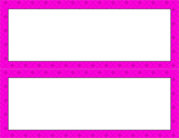 Blank Poster Templates - 11x4.25 Basics: Rectangles (Inverted)