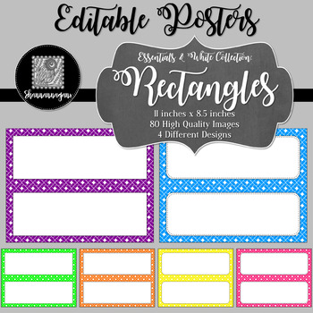 Blank Poster Templates - 11x4.25 Basics: Rectangles & White