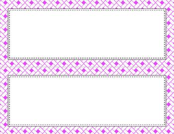 Blank Poster Templates - 11x4.25 Basics: Rectangles & White (Inverted)