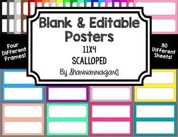 Blank Poster Templates - 11x4.25 Basics: Scalloped