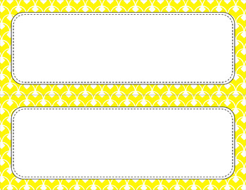 Blank Poster Templates (11x4.25) Essentials & White: Diamond Scallops
