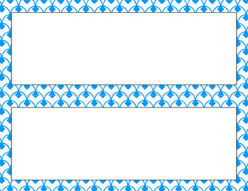 Blank Poster Templates (11x4.25) Essentials & White: Diamond Scallops (Inverted)